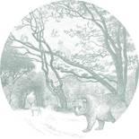 Esta Home Forest Friends 159084 Zelfklevende Behangcirkel