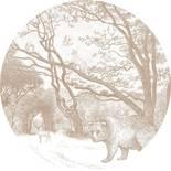 Esta Home Forest Friends 159085 Zelfklevende Behangcirkel