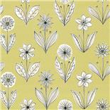 Behang Little Greene 50s Line Papers Florette 1954 Acid Drop