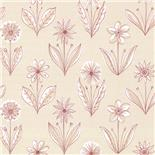 Behang Little Greene 50s Line Papers Florette 1954 Pastille