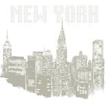 Fotobehang New York Tekening NY09