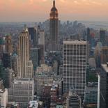 Fotobehang New York Zonsondergang NY11