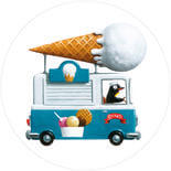 KEK Amsterdam Ice Cream Truck CK-039 Behangcirkel