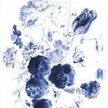 KEK Amsterdam Royal Blue Flowers PA-041 Behang