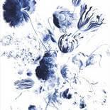 KEK Amsterdam Royal Blue Flowers PA-042 Behang