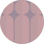 Komar Dots Bauhaus Fusion D1-003 Zelfklevende Behangcirkel