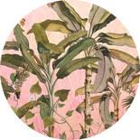 Komar Dots Botany D1-029 Zelfklevende Behangcirkel