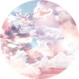 Komar Dots Candy Sky D1-010 Zelfklevende Behangcirkel