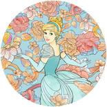 Komar Dots Cinderella Pastel Dreams DD1-003 Zelfklevende Behangcirkel