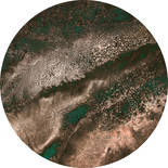 Komar Dots Cuivre D1-026 Zelfklevende Behangcirkel
