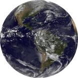 Komar Dots Earth D1-016 Zelfklevende Behangcirkel
