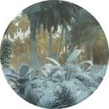 Komar Dots Exotic Jungle D1-047 Zelfklevende Behangcirkel
