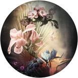 Komar Dots Flemish Flowers D1-036 Zelfklevende Behangcirkel