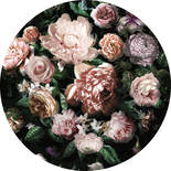 Komar Dots Flower Couture D1-032 Zelfklevende Behangcirkel