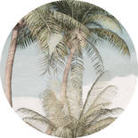 Komar Dots Hush D1-027 Zelfklevende Behangcirkel