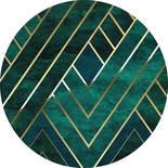 Komar Dots Jade D1-022 Zelfklevende Behangcirkel