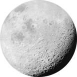 Komar Dots Luna D1-020 Zelfklevende Behangcirkel