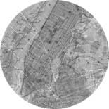 Komar Dots Map D1-056 Zelfklevende Behangcirkel