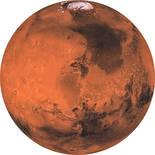 Komar Dots Mars D1-018 Zelfklevende Behangcirkel