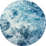 Komar Dots Ocean Twist D1-040 Zelfklevende Behangcirkel