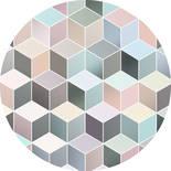 Komar Dots Pastel Deluxe D1-012 Zelfklevende Behangcirkel