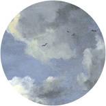 Komar Dots Simply Sky D1-037 Zelfklevende Behangcirkel