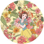 Komar Dots Snow White Endless Summer DD1-005 Zelfklevende Behangcirkel