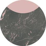 Komar Dots Stripe Marmor D1-006 Zelfklevende Behangcirkel