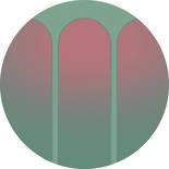 Komar Dots Three Doors D1-001 Zelfklevende Behangcirkel