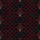 Komar Heritage Coquilles Rouges HX3-010 Behang