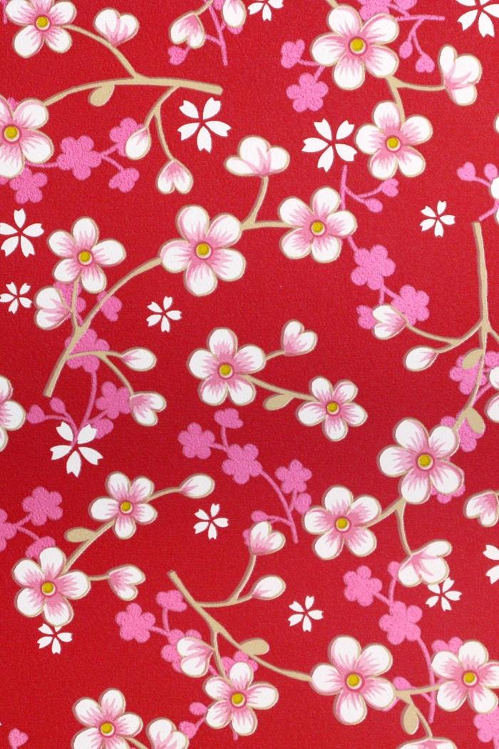 PiP II Behang Eijffinger Cherry Blossom Rood 313027 - BehangSite.com