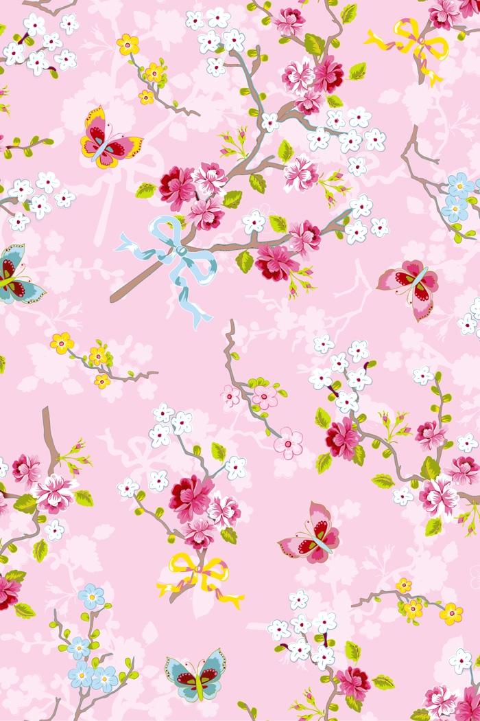 Super PiP Behang Eijffinger Chinese Rose Roze 386032 - BehangSite.com &YR31