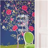 PiP III Behang Eijffinger Flowers Donker Blauw Wallpower 341093