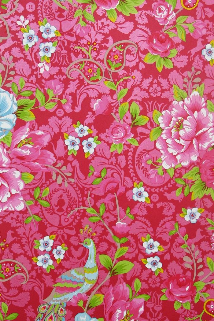 pip ii behang eijffinger flowers in the mix rood 313055. Black Bedroom Furniture Sets. Home Design Ideas