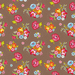PiP Behang Eijffinger Bunch of Flowers khaki 386121