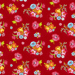 PiP Behang Eijffinger Bunch of Flowers rood 386122