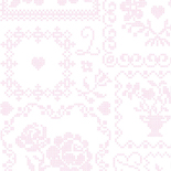 PiP Behang Eijffinger Cross Stitch Roze en Wit 386000