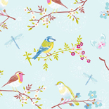 PiP Behang Eijffinger Early Bird Blauw 386011