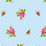 PiP Behang Eijffinger Roses and Dots Blauw 386021